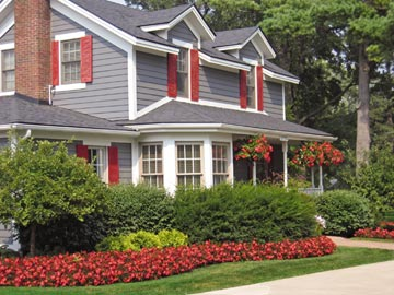tie annuals color to house trim