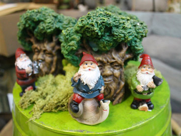 Gnome figurines for the garden