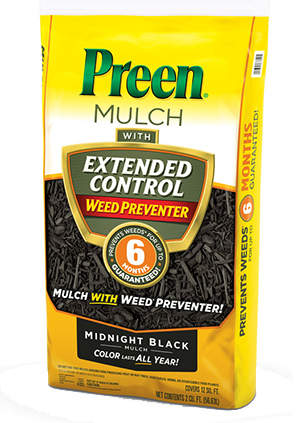 Preen Mulch with Extended Control Weed Preventer