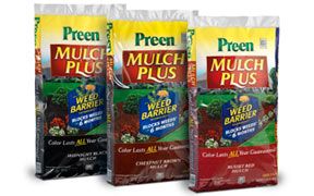 Preen Mulch Plus prevents weeds for up to 6 months