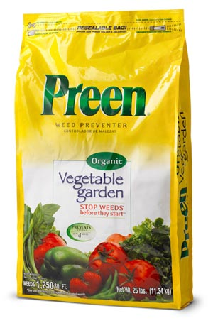 Click To Enlarge. Preen Vegetable Garden Weed Preventer Bag (25 Lbs)